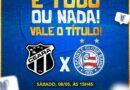 TV Aratu transmite duelo final da Copa do Nordeste.